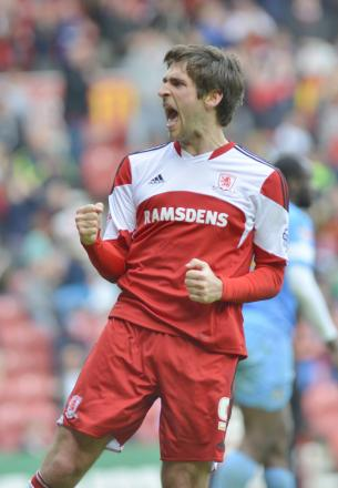 UNCERTAIN FUTURE: It is uncertain whether Danny Graham will return to Middlesbrough next season