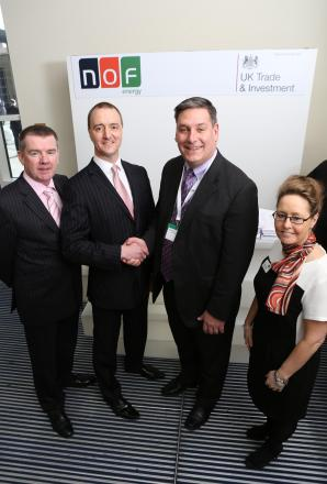 Pictured from left to right are George Rafferty, NOF Energy chief executive, Kurt Foreman, vice-president of economic development at Greater Oklahoma City Chamber, Paul Charlton, NOF Energy chairman, and Joanne Leng MBE, NOF Energy deputy chief executive