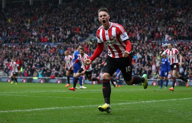 HARD WORK PAYING OFF: In-form Sunderland striker Connor Wickham celebrates his opening goal on Sunday