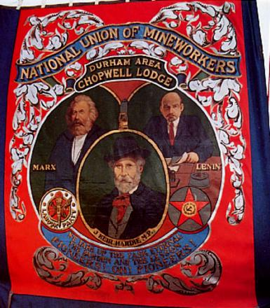 The Chopwell lodge banner at a recent Gala