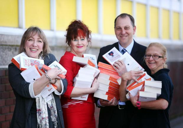 Caption: Alison Dawson from the council's library service, Coun Maria Plews, Stephen Howell, Durham County Council's head of culture and sport, and Kate Blocki from Newton Aycliffe Leisure Centre.