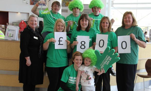 Staff and students at Darlington College raised £800 for Macmillan Cancer Support