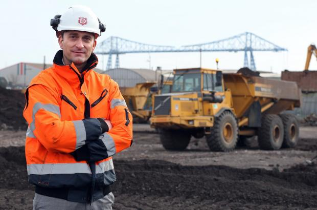 AV Dawson managing director Gary Dawson on the site of the £6m steel storage shed