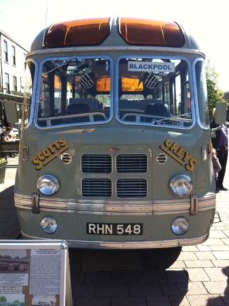 STAR TURN: The Scotts Greys bus at the classic and vintage vehicles event in Darlington
