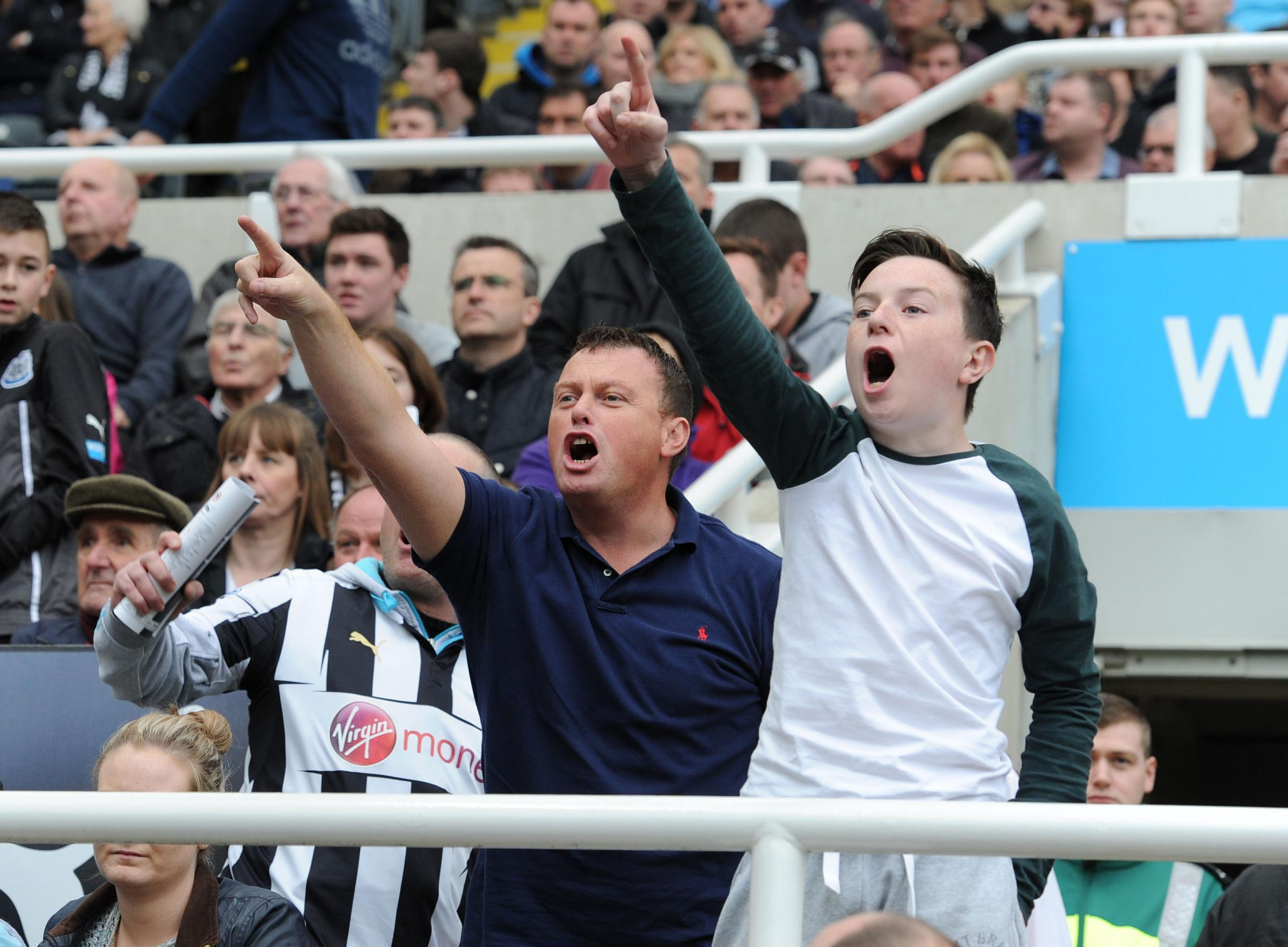 Angry Newcastle fans make their feelings known as they leave the ground at 60 minutes
