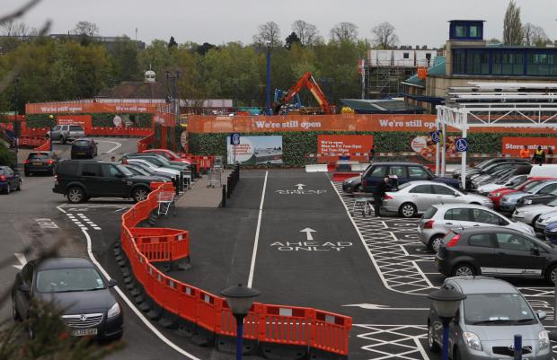 PARKING PERIL: Fears have been raised over a valet parking service at Sainsbury's in Darlington. The store is pictured during a 2012 extension