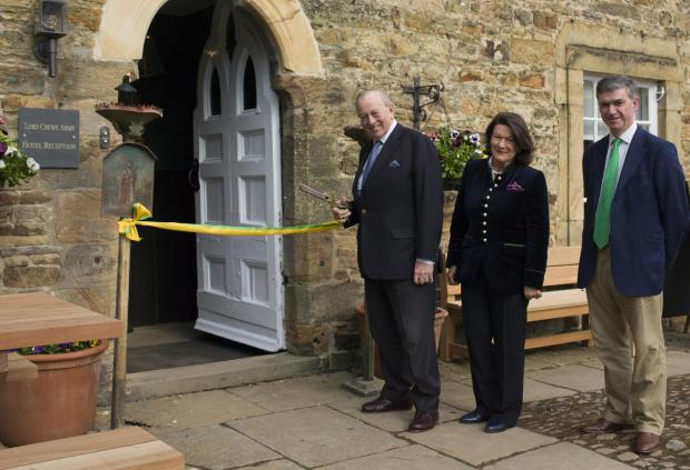 The ribbon cutting at the Lord Crewe Arms, Blanchland