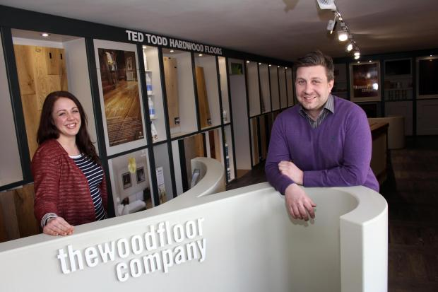 The Wood Floor Company directors Sarah Fanning and Tom Cockerill