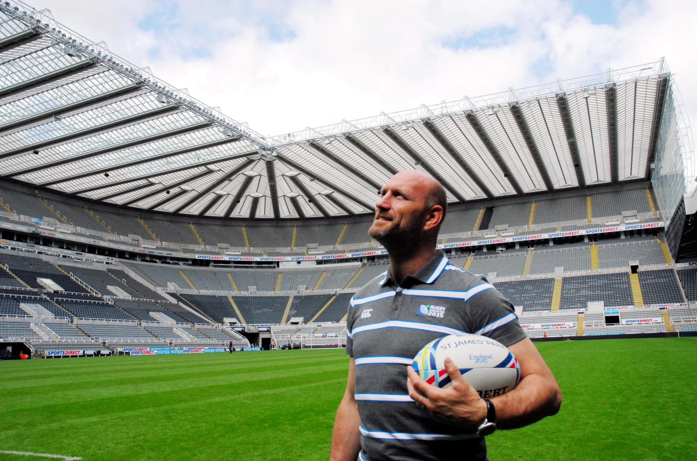 Former England captain Lawrence Dallaglio was a St James' Park for the ticket launch