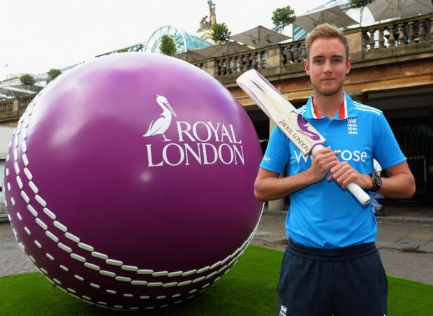 LOOKING TO THE FUTURE: England all-rounder Stuart Broad