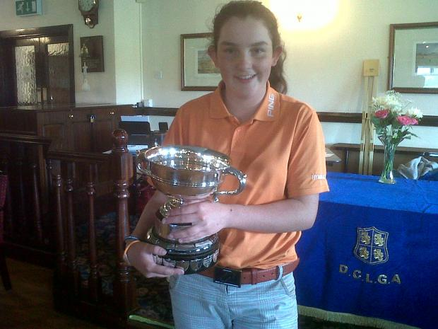 Youngest ever: Jessica Hall is the Durham County Ladies champion