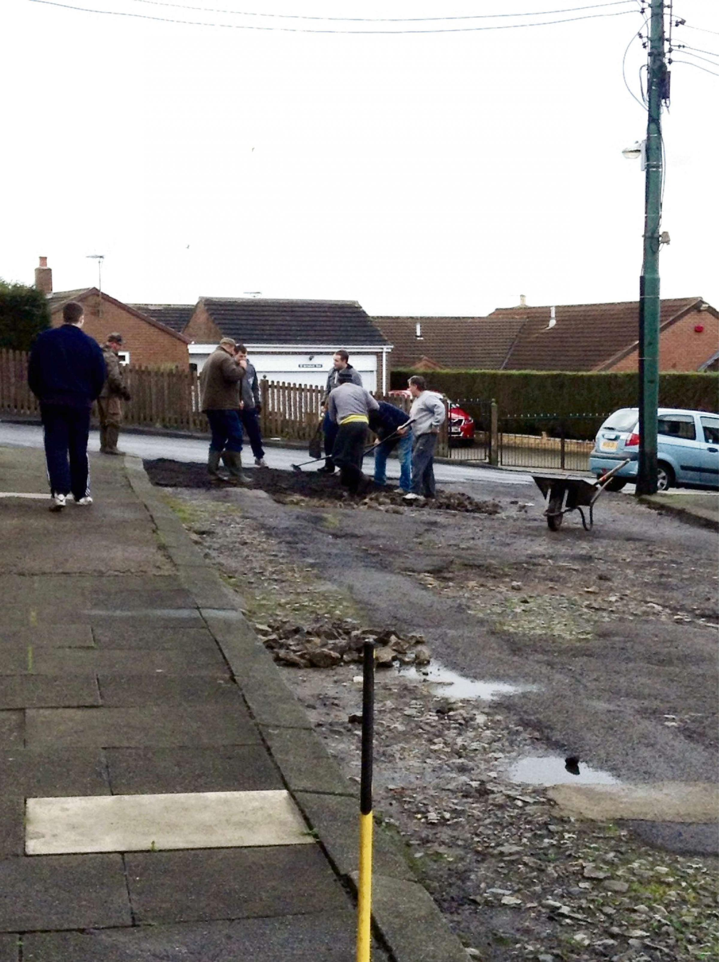 Community near Bishop Auckland thinks on its feet and resurfaces entire road for £45
