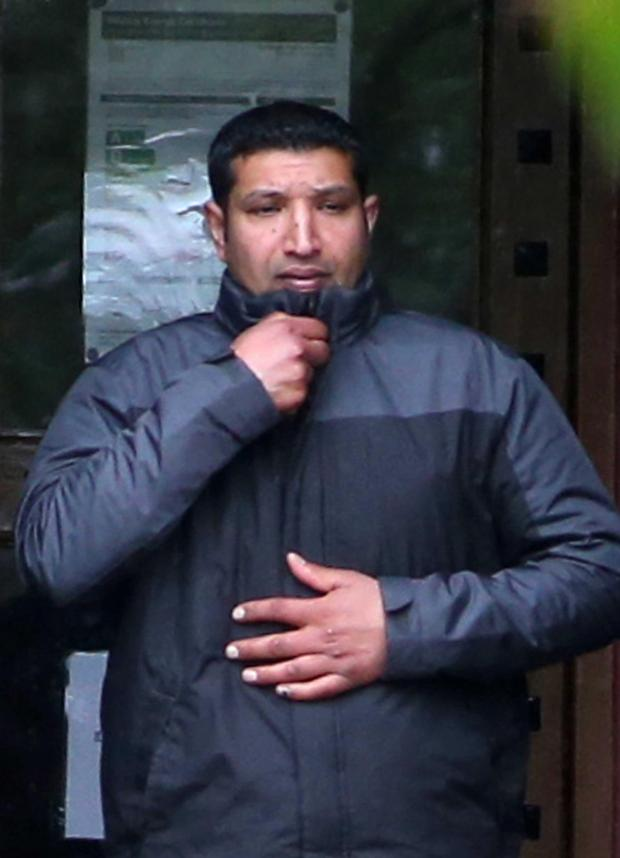 The Northern Echo: Hassan Akhtar pictured leaving Durham Crown Court during his trial. Picture: Andy Lamb