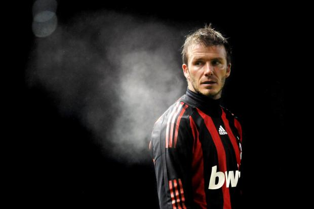 AGONY: David Beckham missed the 2010 World Cup after tearing his Achilles tendon while playing for AC Milan