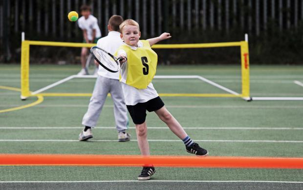 The Northern Echo: TENNIS TALENT: A pupil competes in a tennis tournament for Bishop Auckland schools