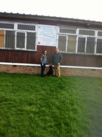 ACTION CALL: Councillors Janet Watson and Gareth Dadd outside the former cadet hut on Castlegarth, Thirsk.