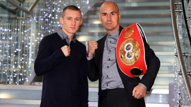 TITLE TALK: Darlington's Stuart Hall faces Liverpool's Paul Butler in the second defence of his IBF world bantamweight title in Newcastle on June 7