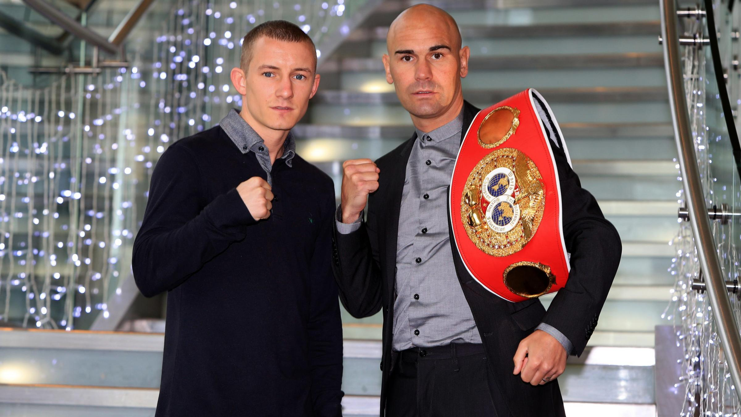 Prep time: Paul Butler (left) and Stuart Hall are edging closer to their world title fight