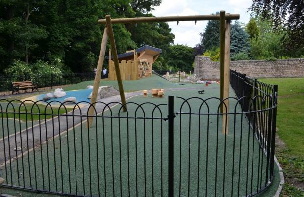 NO DEAL: The new children's play area at Scar Top, Barnard Castle