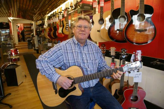 SHUTTING SHOP: Ron Howe who is closing his business Ron's Music in Darlington.Picture: Andy Lamb