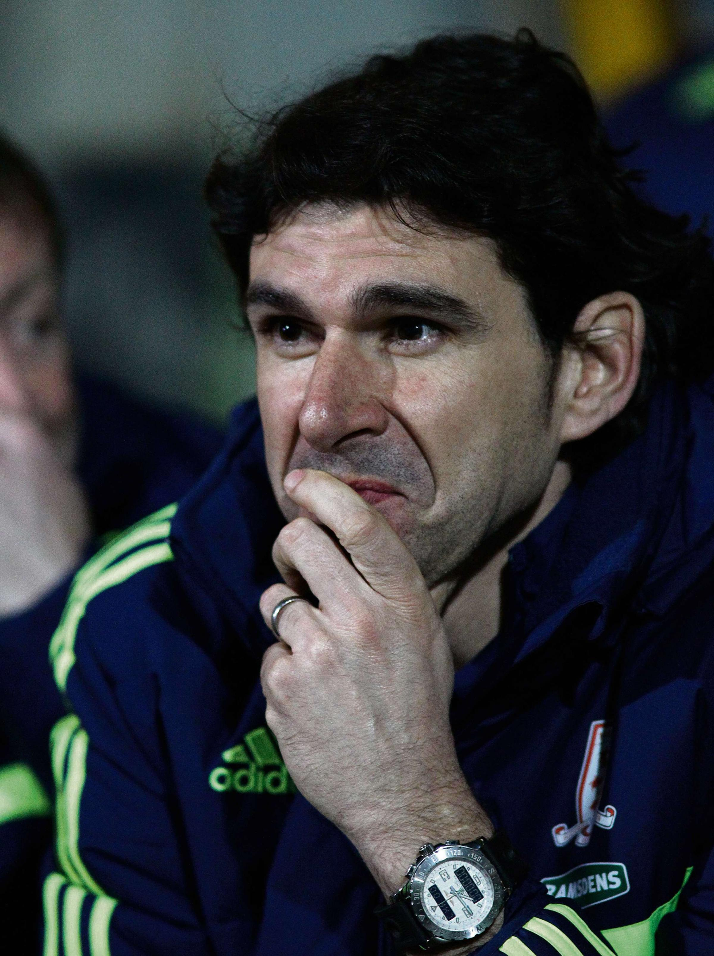 Middlesbrough's Manager Aitor Karanka. Huddersfield Town v Middlesbrough - Tuesday 25th March 2014 - The John Smith's Stadium - Huddersfield
