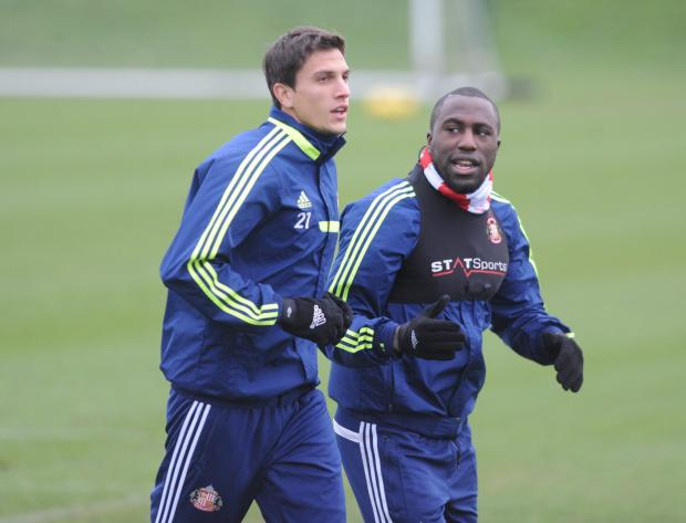 The Northern Echo: Staying? Sunderland defender Santiago Vergini, pictured alongside striker Jozy Altidore, could stay on Wearside
