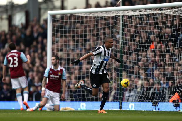 Goals galore: Loic Remy celebrates scoring for Newcastle in the Premier League last season