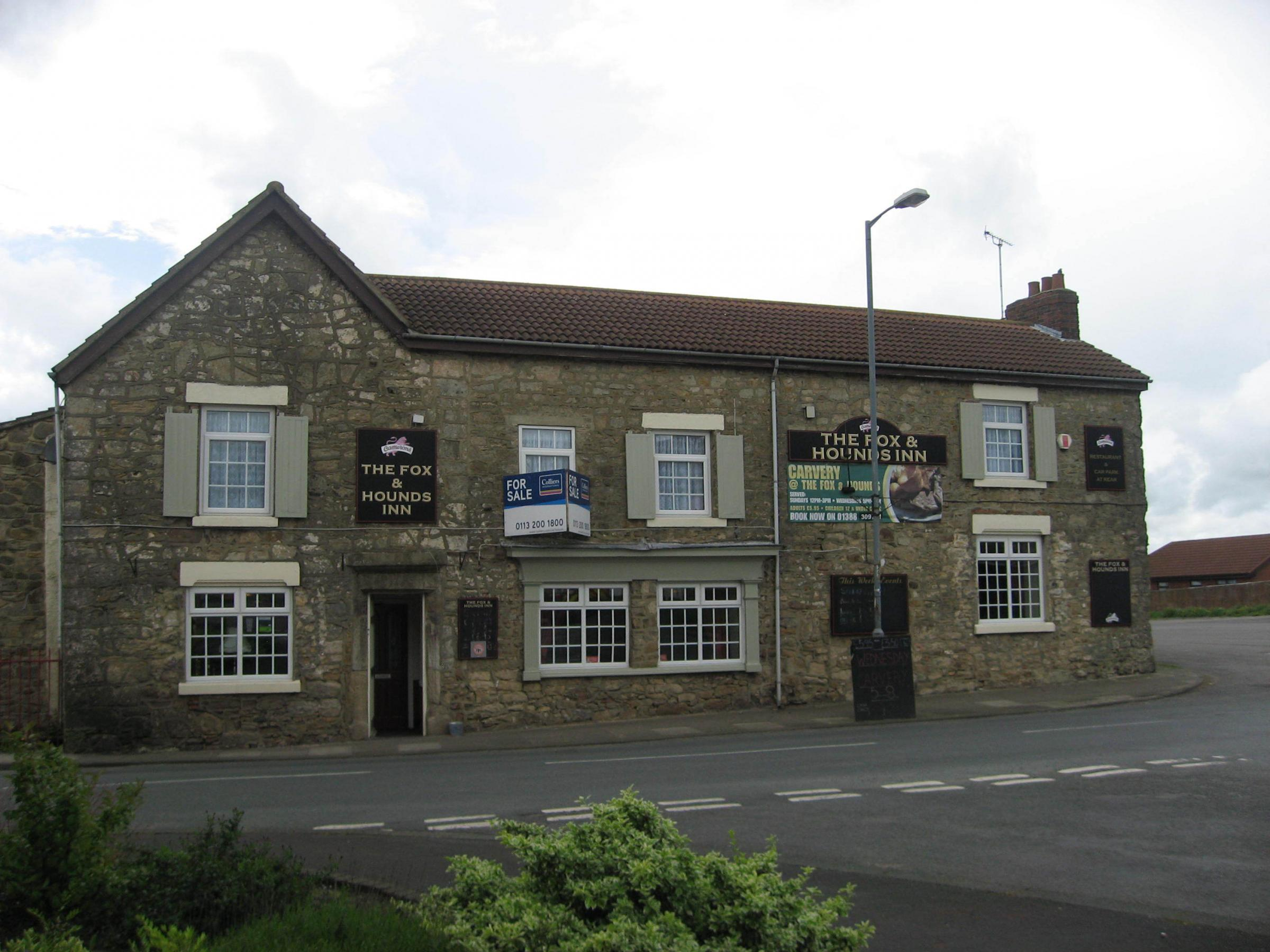 The Fox and Hounds pub which is to be refurbished as part of a village development