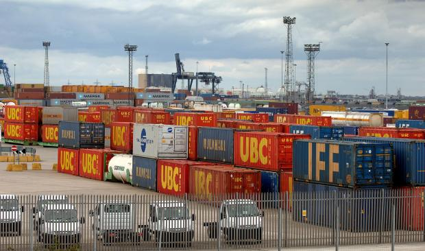 Containers at Teesport