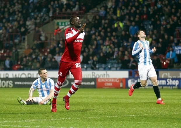 The Northern Echo: Storm: Middlesbrough's Albert Adomah scored at Huddersfield on his way to grabbing 12 goals