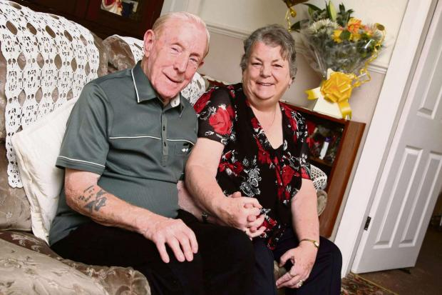GOLDEN COUPLE: Bill and Margaret Taylor, who are celebrating their golden wedding anniversaryPicture: TOM BANKS