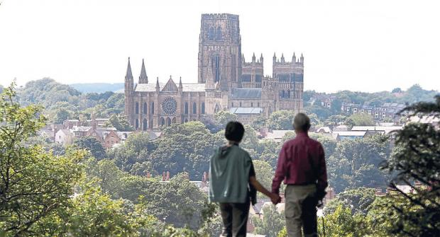The Northern Echo: THE BIG PICTURE: The North-East, seen in all its glory, with an enviable view of Durham City, and England's favourite building