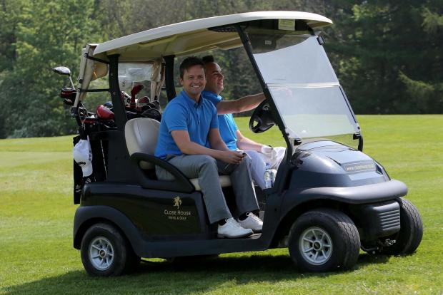 The Northern Echo: ON THE BALL: Geordie duo Ant and Dec take part in the CHUF charity golf day event at the Close House golf course. Pictured DAVID WOOD (6331784)