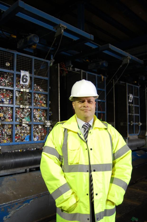 The Northern Echo: Mark Penny, commercial manager at J & B Recycling.