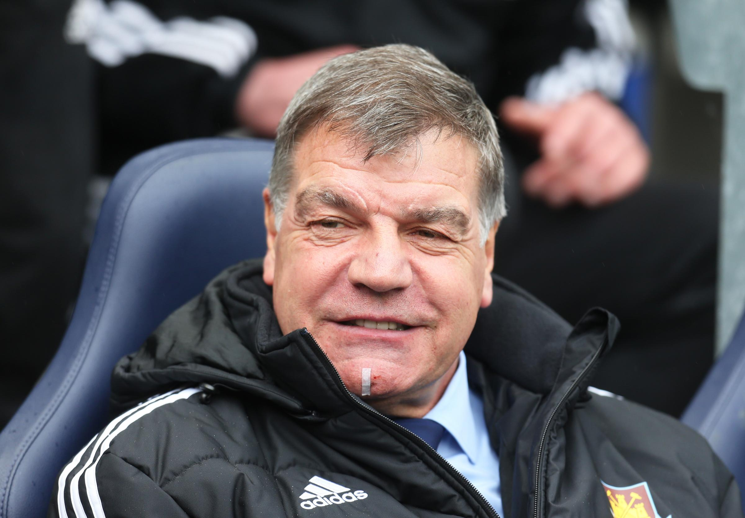 STAYING: West Ham and ex-Newcastle boss Sam Allardyce