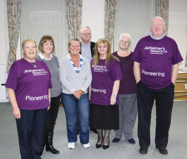 Brighter Skies fundraising group, (l to r) are Christina Newton, Judith Machin, Susan Smith, Bill Foster, Margaret Gibson, Shirley Brown and Alan Newton.