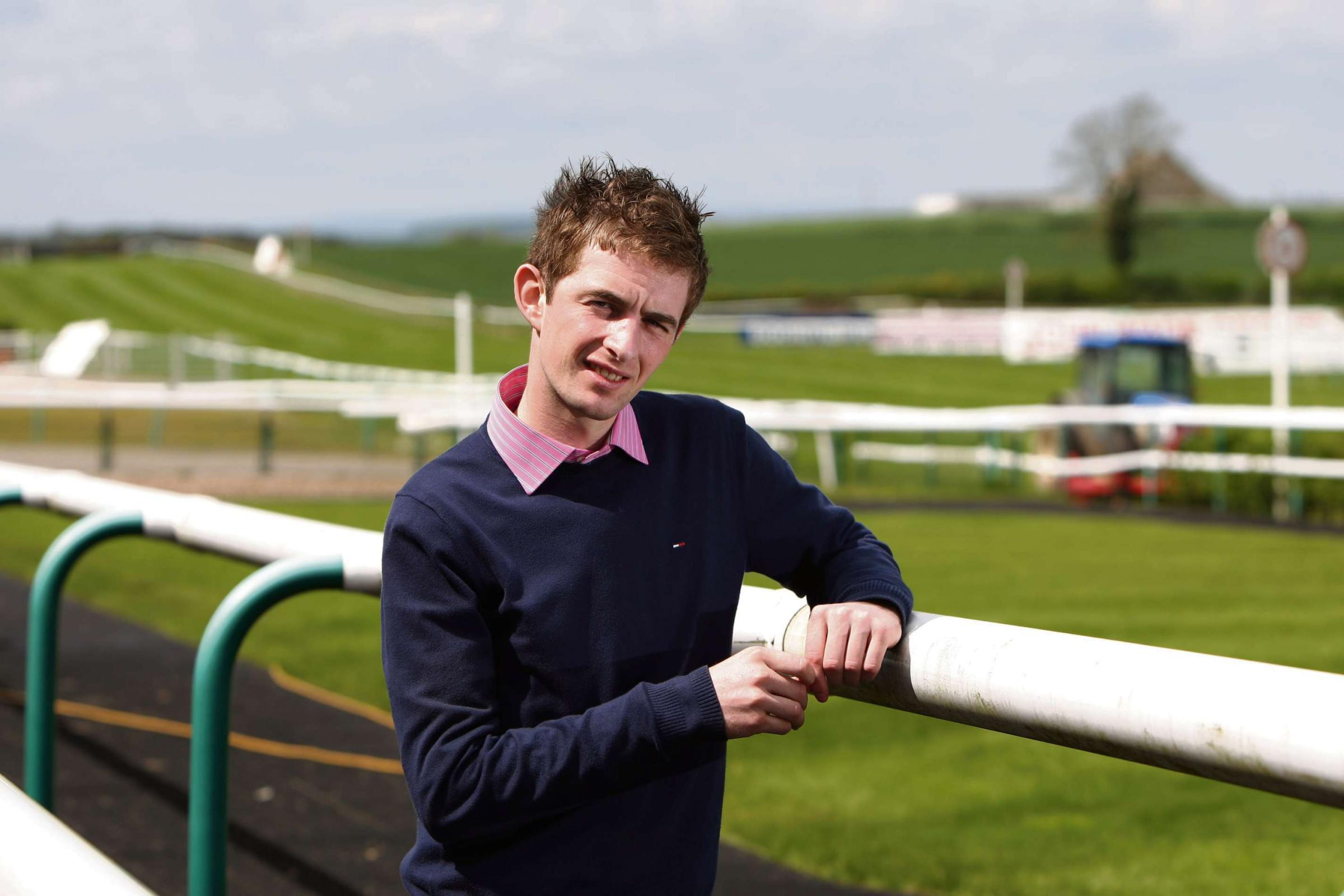 FIGHTING BACK: Jockey Brian Toomey, who is hoping to regain his jockey's licence after recovering from a life-threatening fall at Perth. Picture: TOM BANKS