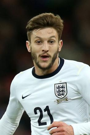 File photo dated 05/03/2014 of England's Adam Lallana.