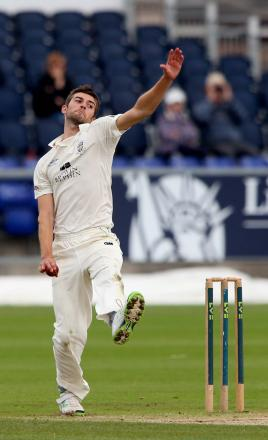 FIVE STAR: Durham paceman Mark Wood took 5-37