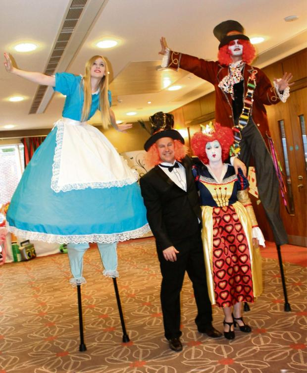 The Northern Echo: HIGH TOTAL: Stilt walkers helped raise more than £8,000 for charity