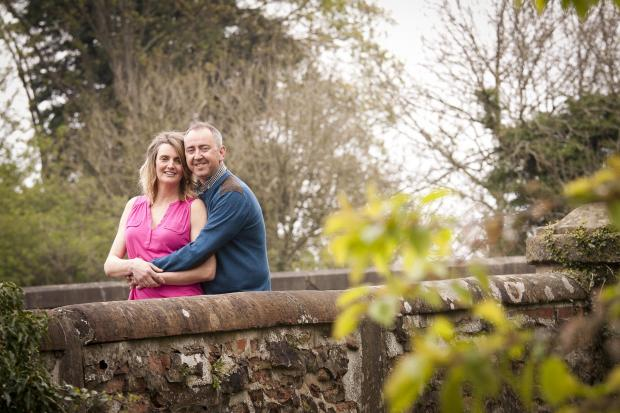 HAPPY COUPLE: Julie Bond and Darren Hird, who will tie the knot next month