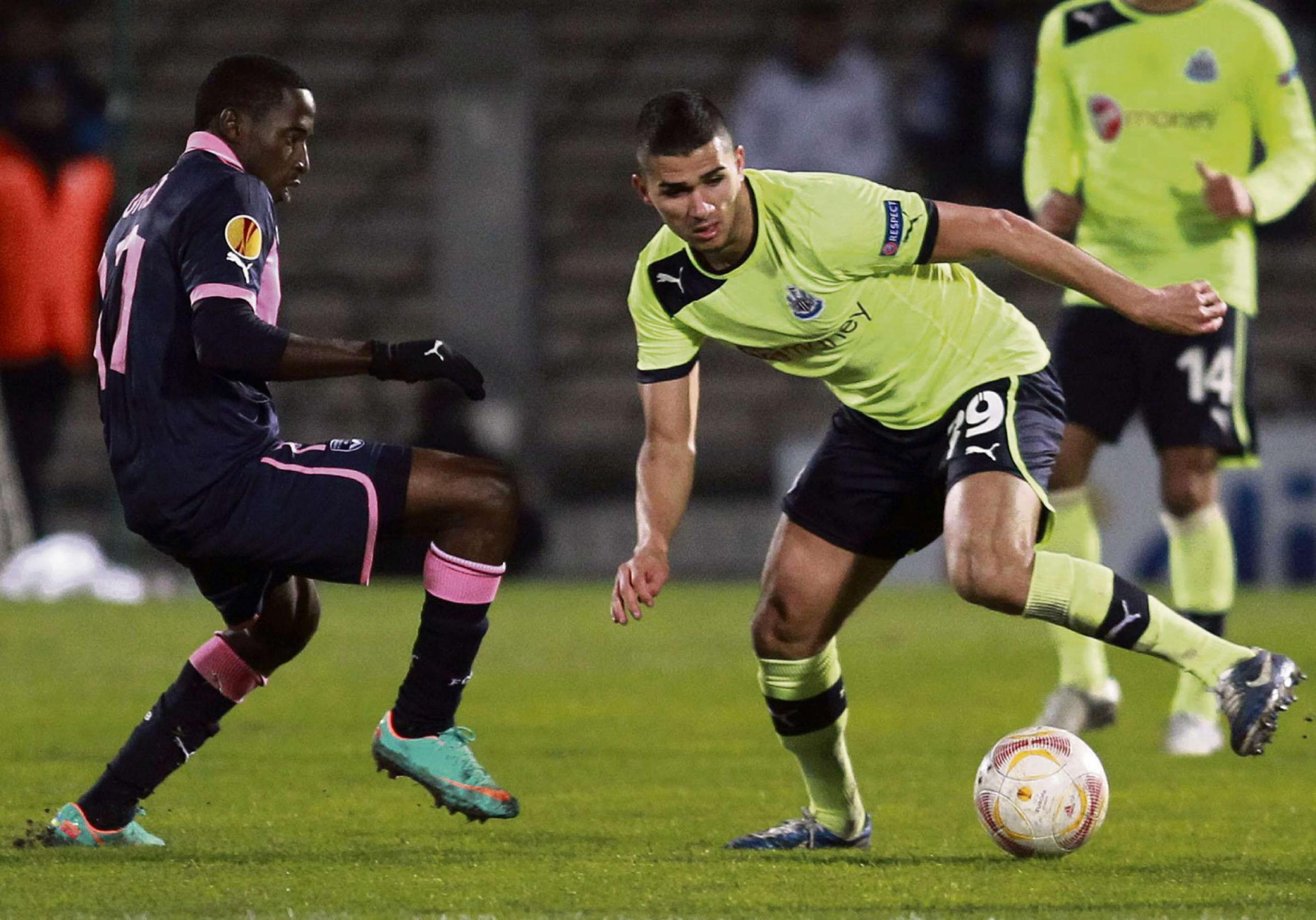 Wanted man: Mehdi Abeid has rarely appeared for Newcastle but is wanted in Athens full-time