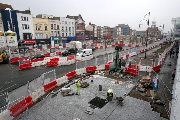 Work begins on omprovements to Stockton High Street in March, 2013