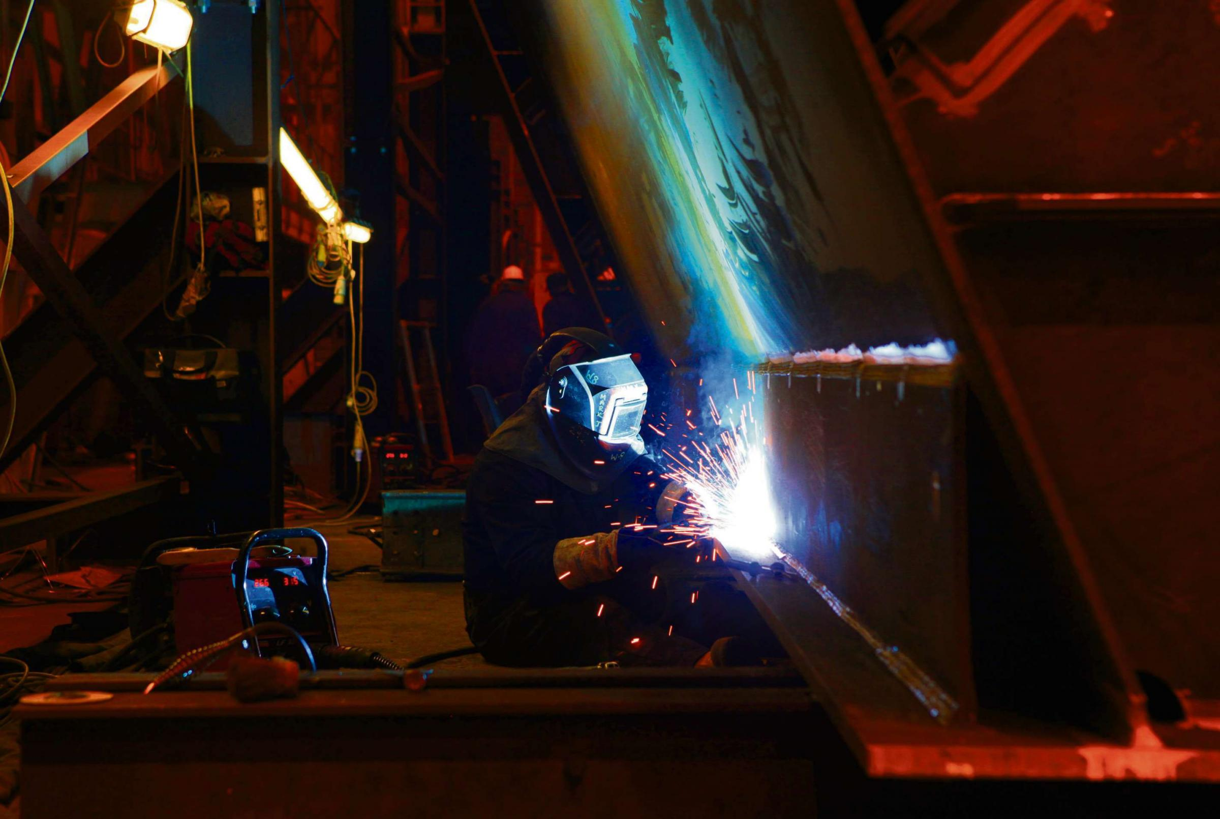 SPARKS FLYING: The manufacturing sector was strong in May, a CBI report has said