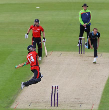 Macleod High Jumps for this shot to take him to 50. Picture: KEITH TAYLOR