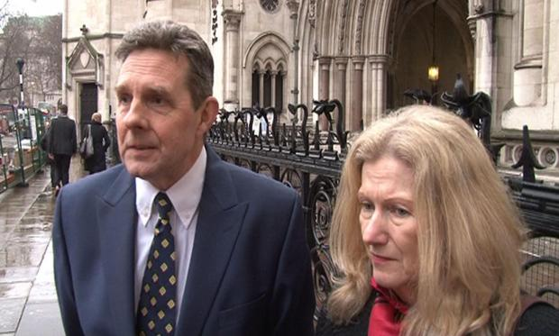 Retired British couple Paul and Sandra Dunham who have been extradited from the UK to the USA to face fraud charges