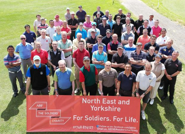 SOLDIERS' CHARITY: Participants from the Catterick 100 ABF Golf Day