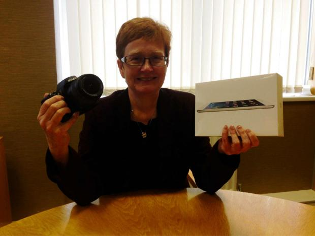 ON OFFER: Anne Rowlands, chief executive of Railway Housing Association, with one of the iPads being given away