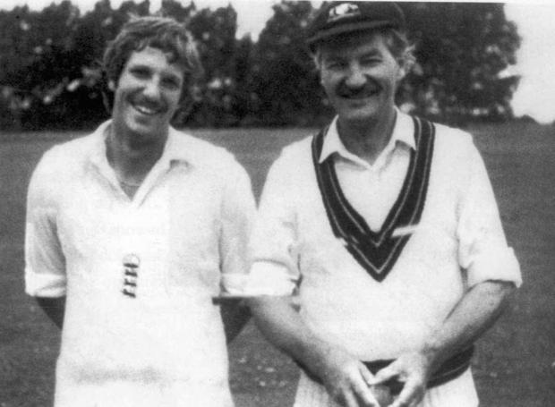 The Northern Echo: CRICKETING: Sir Ian Botham during happier times with his father, Les