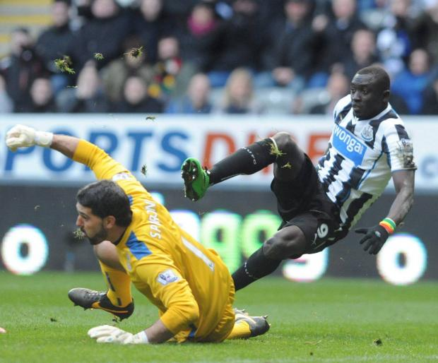 On his own? Papiss Cisse is Newcastle's only first team senior striker as things stand